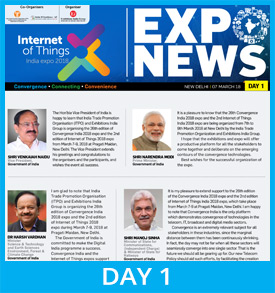 2nd IoT India expo 2018 Show Daily Day 1